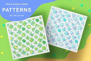 Spa and Sauna Patterns Collection