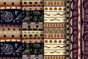 4 vector seamless ethnic pattern
