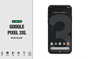 Google Pixel 3XL App Mockup