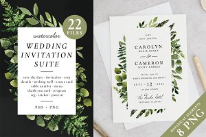 Sunny forest – wedding invitations