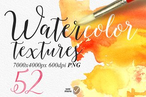 52 Watercolour textures PNG