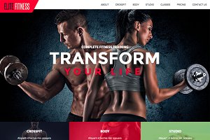 Fitness Website Theme