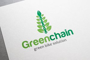 Green Chain - Bicycle Logo