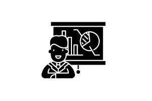 Marketing director black icon