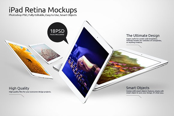 iPad Retina Mockups