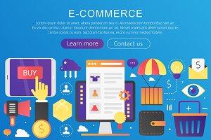 E-commerce concept template