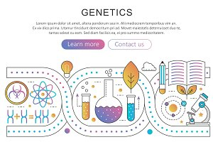 Genetics nanotechnology concept