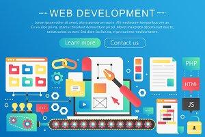 Web development concept template