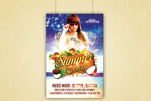 Summer Ending Flyer Template