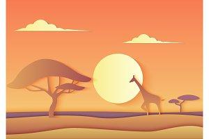 African nature landscape