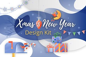 Xmas and New Year Design Kit