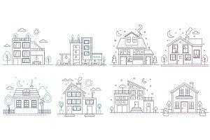 Civil line style buildings set