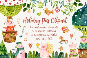 Holiday Pig Set