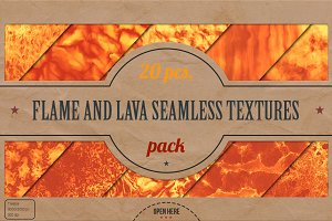 Flame and Lava Textures Pack