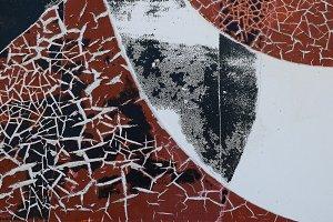 Cracks On Weathered Plastic Surface