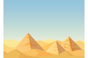 Egypt Pyramids desert landscape