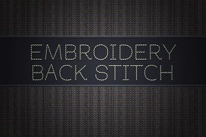 Embroidery Backstitch