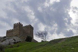 Citadel  in old fortress in Sudak.