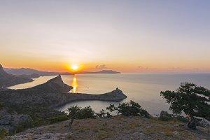 Dawn on the Black Sea coast.