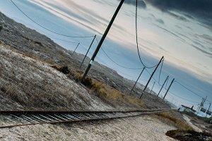 Dutch angle rail tracks