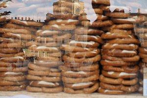 pretzel bread baked food