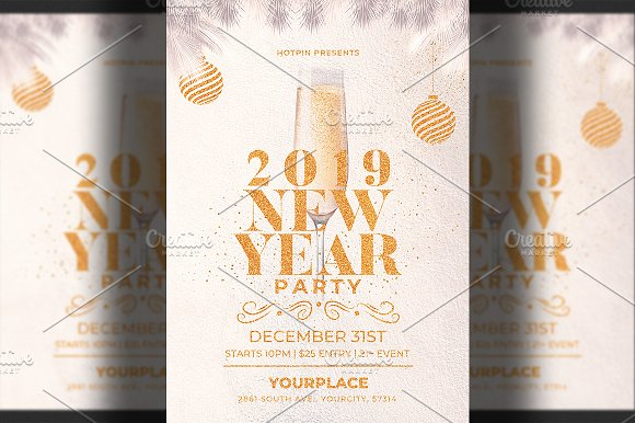 new year invitation flyer flyers