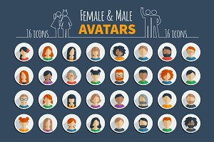 Male and female avatars + Xmas bonus