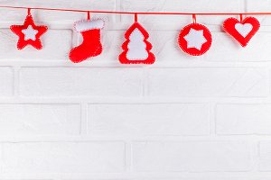 Christmas banner with handmade felt