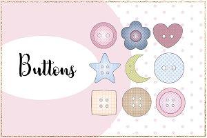 Buttons Clip-art