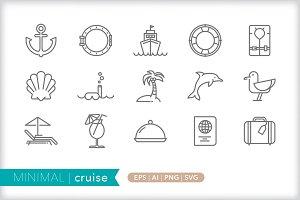 Minimal cruise icons