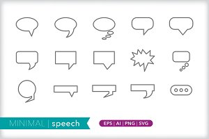 Minimal speech icons