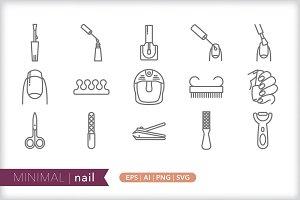 Minimal nail icons