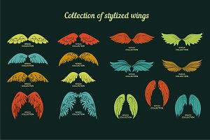 Vector collection Wings