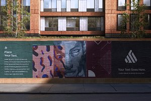 Poster Street Mockup - PSD