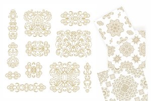 Golden ornaments, patterns