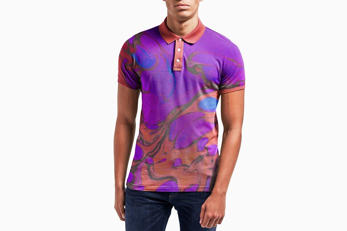 Male Model Polo Shirt Mockup Psd Creative Product Mockups