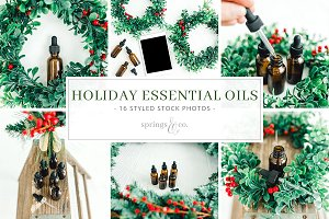 Holiday Essential Oil Photo Bundle