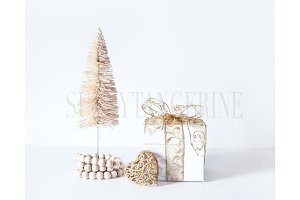 Tree and Gift - Stock Photo