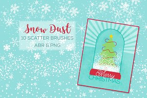 Snow Dust Scatter Brushes