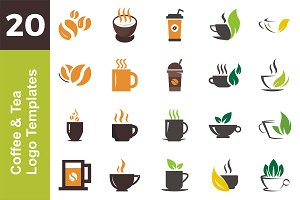20 Logo Coffee & Tea Templates Bundl