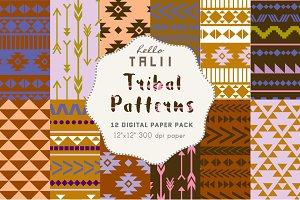 Blue Tribal Digital Paper