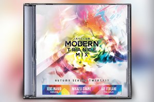 Modern Trance Mix CD Album Artwork