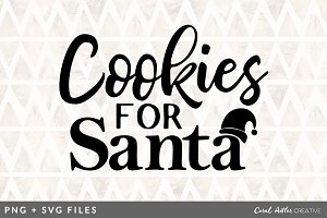 Cookies for Santa SVG/PNG Graphic