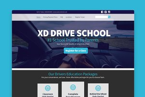 Adobe XD Drive School Template