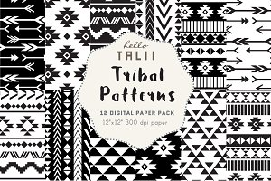 Black and White Tribal Patterns