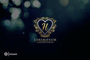 Luxury Heart H Letter Logo
