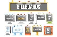 Flat Billboards Set