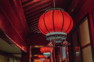 Chinese red lanterns for chinese new
