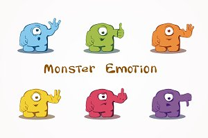 Monsters expressing emotions