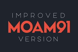 MOAM91 Typeface - Improved Edition